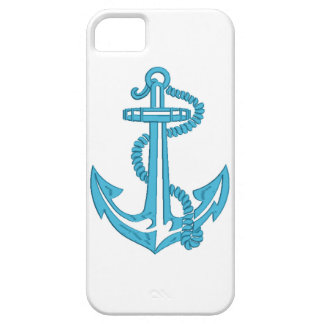 anchor - imitation of embroidery iPhone 5 case