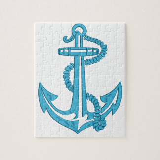 anchor - imitation of embroidery jigsaw puzzle