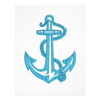 anchor - imitation of embroidery letterhead