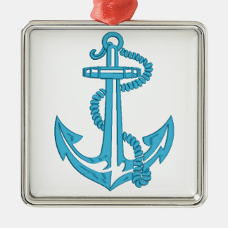 anchor - imitation of embroidery metal ornament
