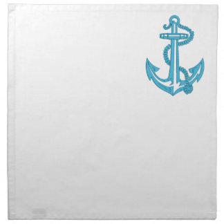 anchor - imitation of embroidery napkin