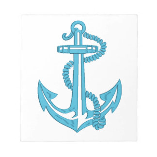 anchor - imitation of embroidery notepad