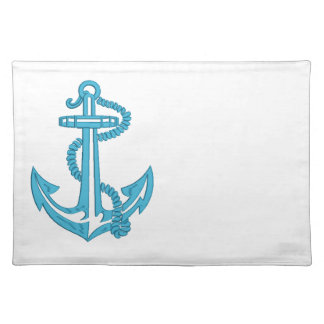 anchor - imitation of embroidery placemat