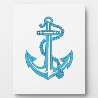 anchor - imitation of embroidery plaque