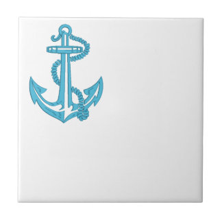 anchor - imitation of embroidery tile