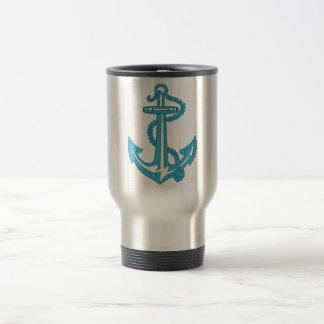 anchor - imitation of embroidery travel mug