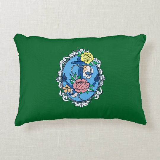 Anchor in Frame Accent Pillow