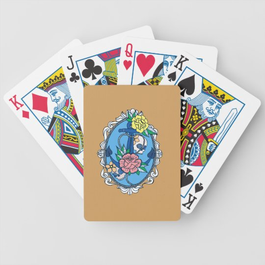 Anchor in Frame Bicycle Playing Cards