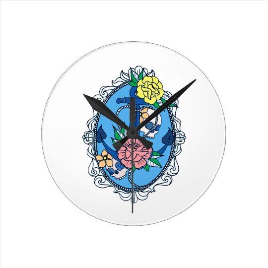 Anchor in Frame Round Clock