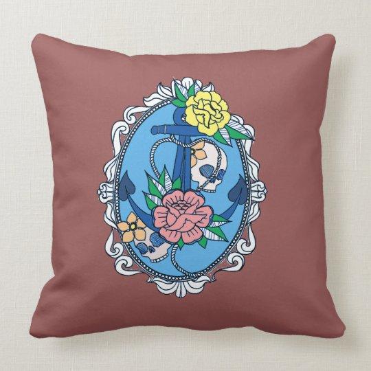 Anchor in Frame Throw Pillow