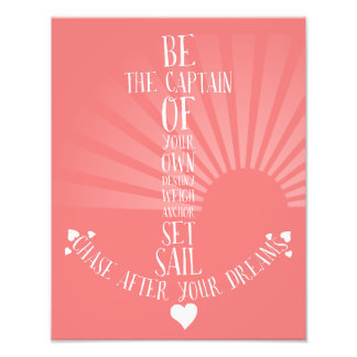 Anchor inspirational quote art nautical home decor photo