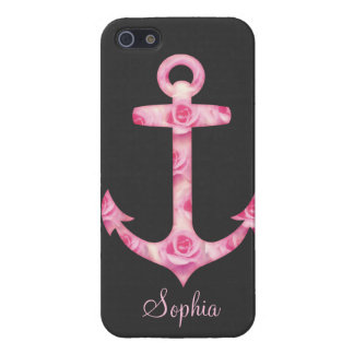 Anchor iPhone 5 case Pink rose floral iPhone 5
