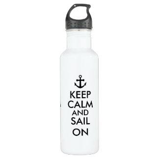 Anchor Keep Calm and Sail On Nautical Custom