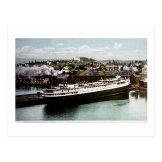 Anchor Line Dock, Marquette, Michigan 1908 Postcard