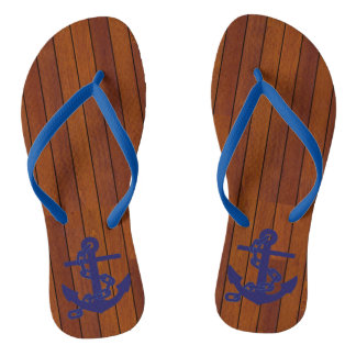 Anchor marinates blue flip flops