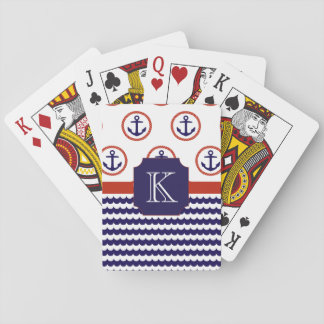 Anchor Monogram Playing Cards