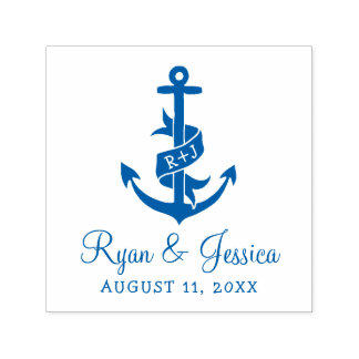 Anchor Monogram Wedding Stamp