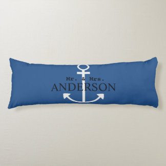 Anchor Mr. & Mrs. Name Personalized Wedding Date Body Pillow