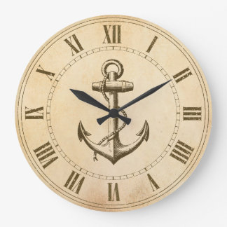 Anchor Nautical Clock