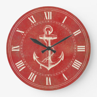 Anchor Nautical Large Clock