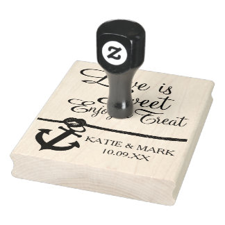 Anchor Nautical Love is Sweet Rubber Stamp