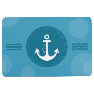 Anchor Nautical Modern Blue Floor Mat