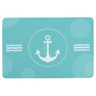 Anchor Nautical Modern Light Blue Floor Mat
