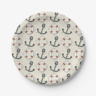 Anchor Nautical Paper Plate
