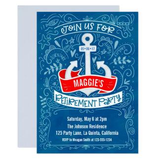 Anchor Nautical Retirement Invitation