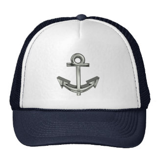 Anchor Nautical Silver Navy trucker's Hat