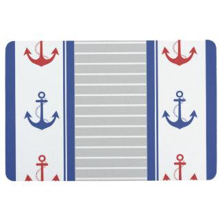Anchor Nautical Trendy Pattern Floor Mat