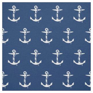 Anchor Navy Blue White | Marine Fabric