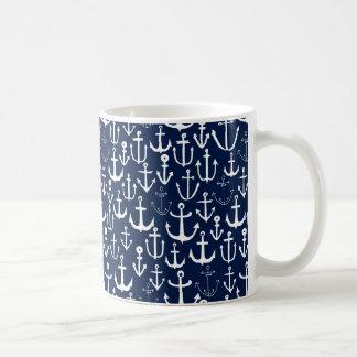Anchor Navy Sailing Sailboat Ocean / Andrea Lauren Coffee Mug