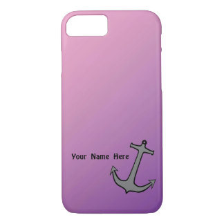 Anchor on Pink and Purple iPhone 7 Case