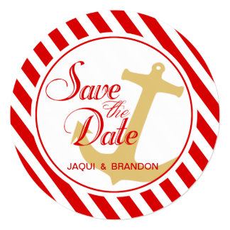 """Anchor on Stripes Save the Date 