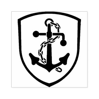 Anchor Patch Rubber Stamp