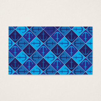 Anchor pattern business card