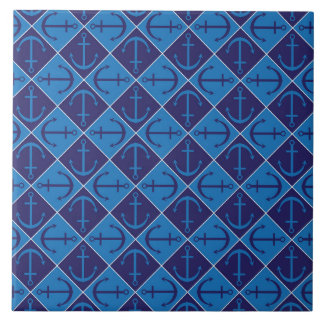 Anchor pattern ceramic tile