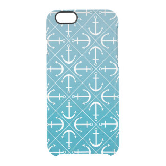 Anchor pattern clear iPhone 6/6S case