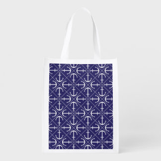 Anchor pattern grocery bags