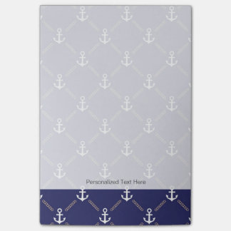 Anchor pattern post-it notes