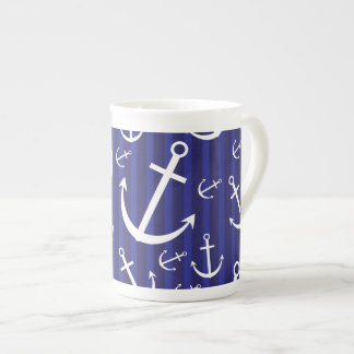 Anchor pattern tea cup
