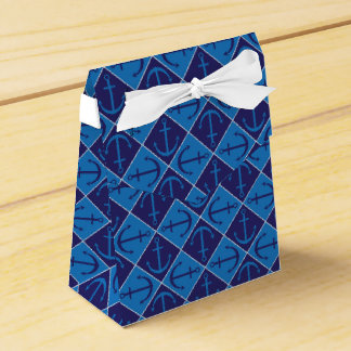 Anchor pattern wedding favor box