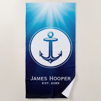 Anchor | Personalizable Nautical Gifts Beach Towel