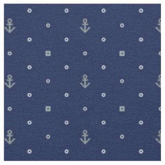 Anchor Polka Dots Pattern   Add Your Initial 2 Fabric