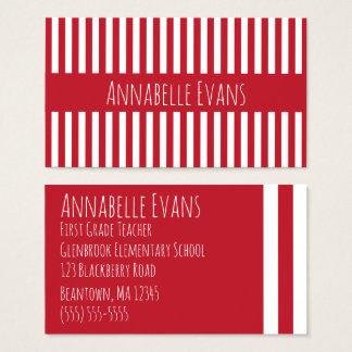 Anchor Red Business Card