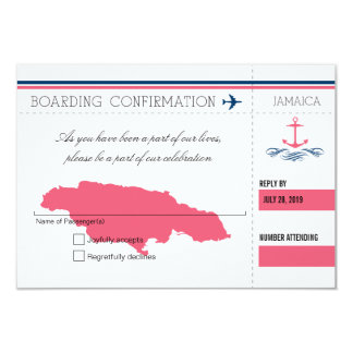 Anchor RSVP Jamaica Boarding Pass Card