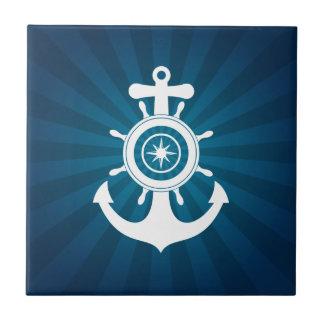 Anchor Sailor Blue tile