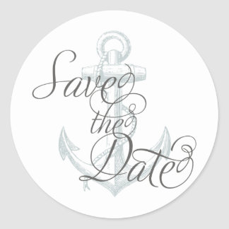 Anchor Save the Date Sticker