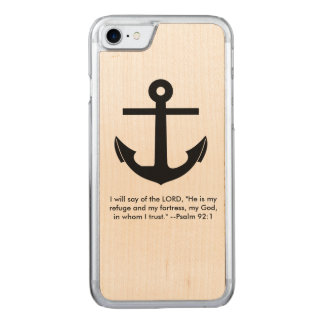 Anchor Scripture Verse Carved iPhone 8/7 Case
